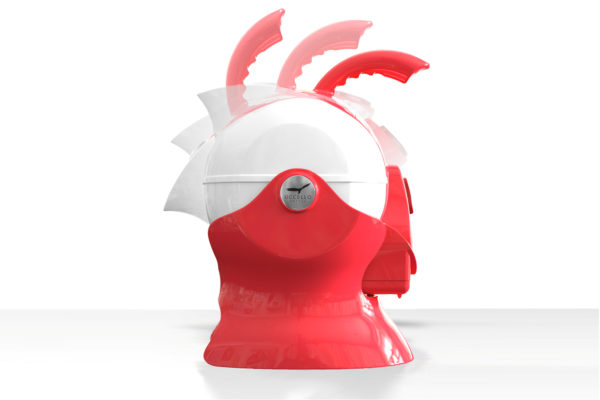 Red and White Uccello Kettle Rotating
