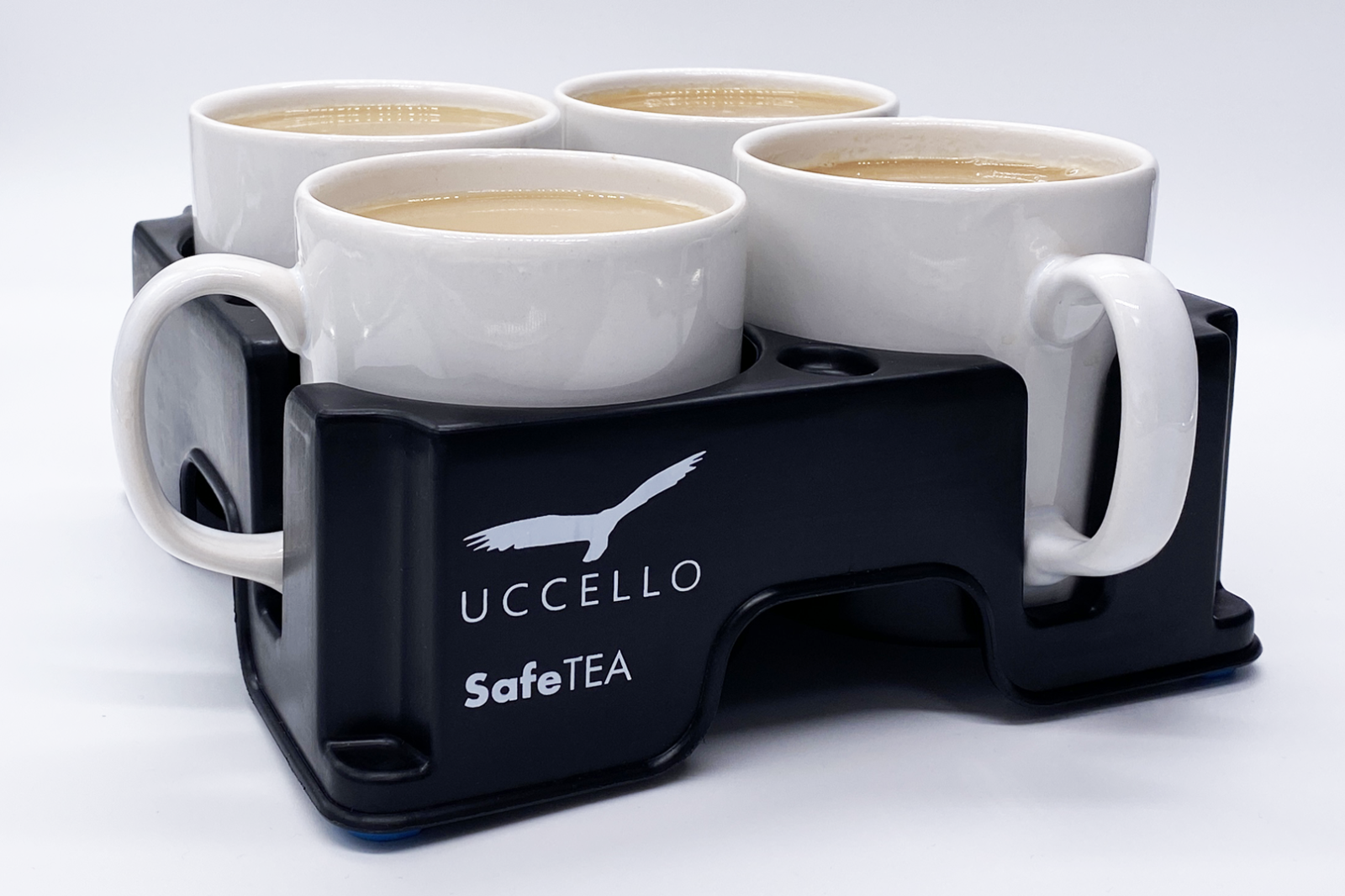 Muggi Cup Holder with 4 cups of tea